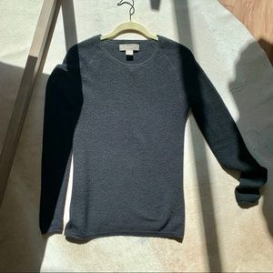 2 Ply Black 100% Cashmere Waffle Weave Sweater